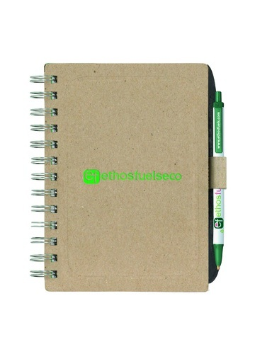 Bic Ecolutions Chipboard Cover Notebook With Recycled Fiber