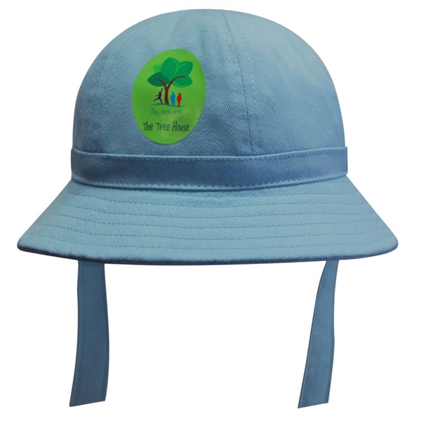 Brushed Sports Twill Babies Bucket Hat With Strap