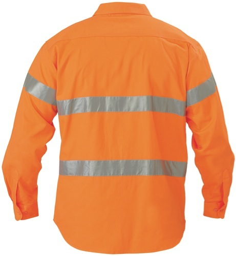 Hi Vis Drill Long Sleeve Shirt 3M Reflective Tape