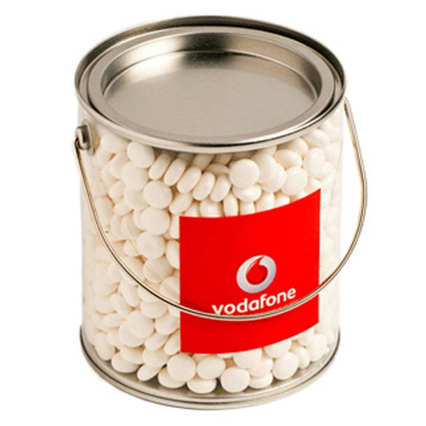 Big PVC Bucket Filled with Mints 950G
