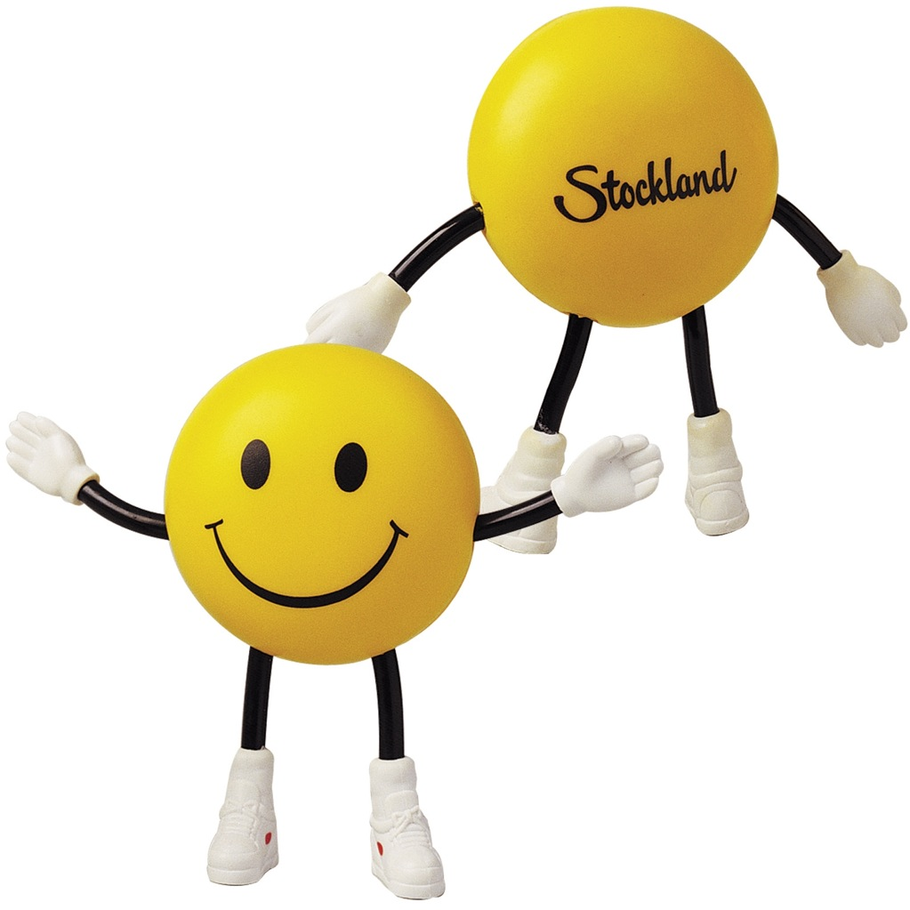 Anti Stress Smile Guy With Bendy Arms & Legs