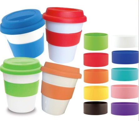 Grab N Go Coffee Cup With Mix & Match Silicon Lids & Bands