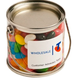 Assorted Colour Mini Jelly Beans in Silver