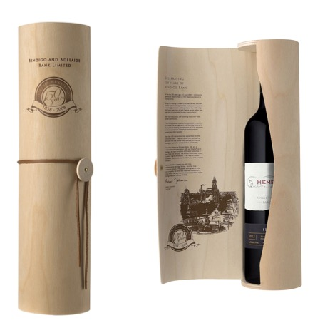 Wooden Wine Tube Packaging