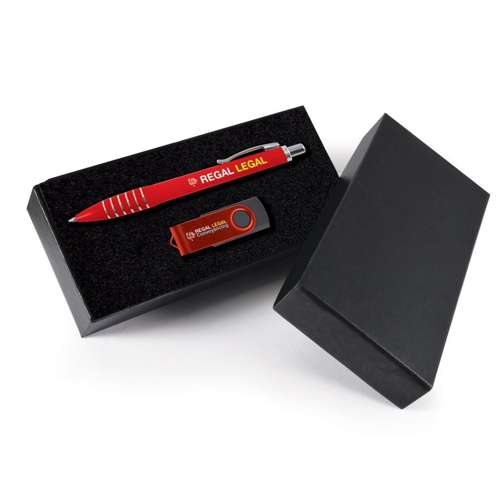 Style Gift Set - Titan Pen and Swivel Flash Drive