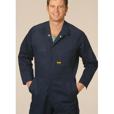 Mens Action Back Coverall in Heavy Cotton Pre-shrunk Drill