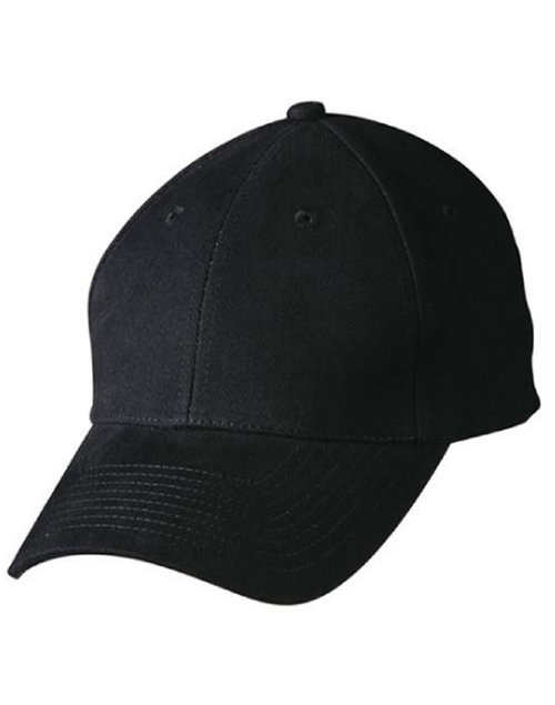 Heavy brushed cotton structured cap with buckle on back closure