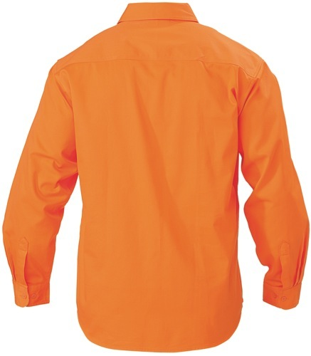 Hi Vis Drill Long Sleeve Shirt
