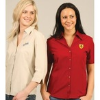 Ladies Teflon 3/4 Sleeve Shirt