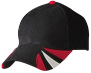 Spider cap with 100% heavy brushed cotton contrast tri-colour