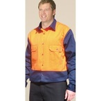 Hi-Vis Cotton Drill Shirt with Long Sleeve