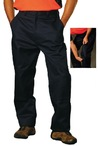 Cotton Drill Cargo Pants With Knee Pads