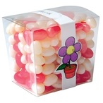 Corporate Colour Jelly Beans In Clear Mini Noodle Box