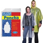 Polythene Yellow Poncho In Clear Poly Bag