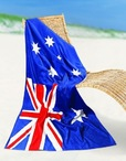 Aussie Flag Printed Beach Towel