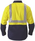 2 Tone Hi Vis Reflective Drill Shirt - Long Sleeve