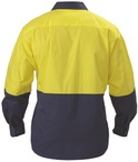 2 Tone Hi Vis Lightweight Drill Shirt - Long Sleeve