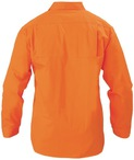 Cool Lightweight Gusset Cuff Hi Vis Drill Shirt - Long Sleeve