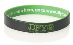 Inside Print and Outside Colour Infill Silicone Wristband
