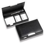 Classic Desk Organiser with Silver Trim