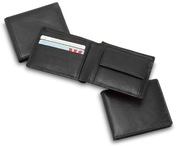 Economy Leather Wallet with Coin Pouch