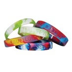 Multi-Coloured Debossed Wristbands