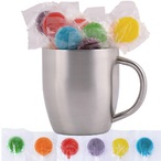 Assorted Colour Lollipops in Stainless