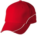 Nylon ripstop structured cap with polyester mesh lining and contrast trim