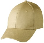 Heavy unbrushed cotton structured fitted cap