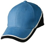 Tri-colour heavy brushed cotton structured cap