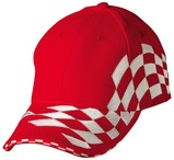 Heavy brushed cotton embroidery check racing with sandwich peakstructured cap