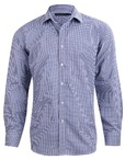 Mens Two Tone Gingham Long Sleeve Shirt