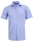 Mens Two Tone Gingham Short Sleeve Shirt