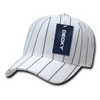 Pin Striped Fitted Cap