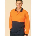 CoolDry Micro-mesh Safety Long Sleeve Polo