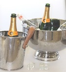 Stainless Steel Leather Handle Ice Bucket