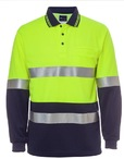 Hi Vis Long Sleeve Traditional Polo