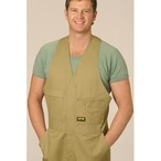 Mens Action Back Overall in Heavy Cotton Pre-shrunk Drill