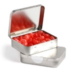 Rectangle Hinge Tin Filled With Jelly Beans 65G (Mixed Colours or Corporate Colours)