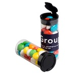 Flip Lid Tube Filled with Chewy Fruits (Skittle Look Alike) 35G