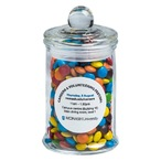 Small Apothecary jar filled with Mini M&Ms 115g