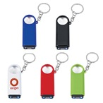 Led Light Key Ring With Magnification
