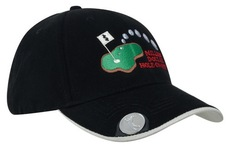 Brushed Heavy Cotton Golf Cap With Magnetic Marker On Peak
